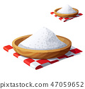Salt isolated on white background. Detailed Vector Icon 47059652