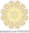 mandala floral golden 47061059