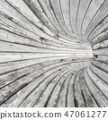Wood textured tunnel 47061277