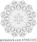 mandala floral silver 47061335