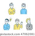 5個男性表情設定2 47062081
