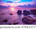 Sunrise at sea 47063377