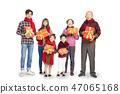 asian family celebrating chinese new year 47065168