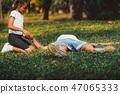 Senior man having chest pain or heart attack. 47065333