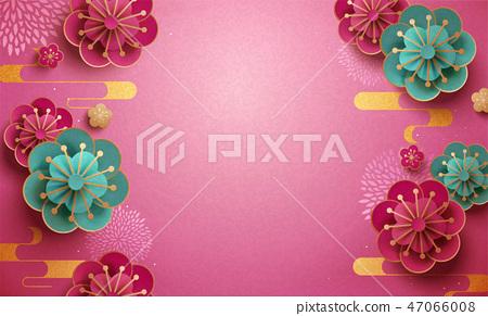 paper plum flower wallpaper 47066008