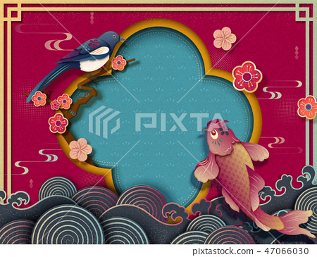 Chinese new year template 47066030