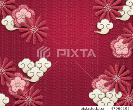 Embroidery floral background 47066195