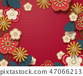 Embroidery floral background 47066213