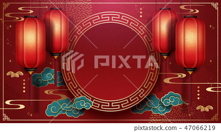 Chinese spring festival background 47066219
