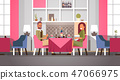 couple sitting cafe table romantic dinner happy valentines day celebration concept young man woman 47066975