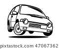 懷鄉輕的汽車著色樣式汽車例證 47067362