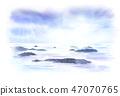 세토 우치 섬 수채화 47070765