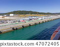 entry in to port, wharf, bay 47072405