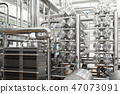 Cheese-making equipment of cheese factory background 47073091