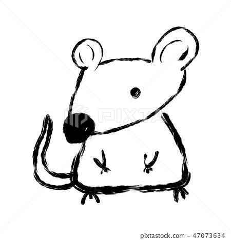 Cute rat / child [line art] 47073634