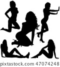 Sexy Lady Silhouettes 47074248