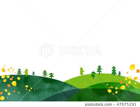 自然風景小山山天空拼貼畫 47075291