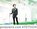 Golf golf school fitness gym woman 47075434
