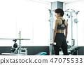 피트니스 체육관 훈련 미들 여성 운동 47075533