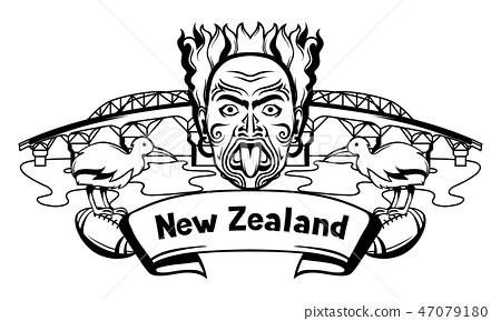New Zealand print design. 47079180