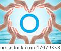 World diabetes day concept with blue circle logo 47079358