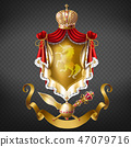 Medieval ruler coat of arms 3d realistic vector 47079716