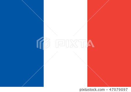 National flag of country France  47079897