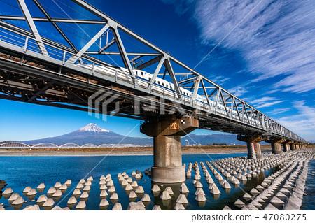 靜岡縣新幹線和富士山 47080275