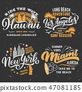 Surfing summer vector t-shirt design 47081185