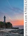 Dusk lighthouse 47083232