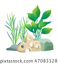 Vegetation Green Plants Set Vector Illustration 47083328