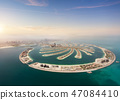Aerial view of artificial Palm island 47084410