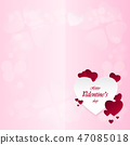 Happy Valentine's Day On a pink background 47085018