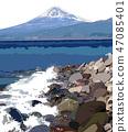富士和大海 47085401