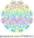 mandala rainbow floral 47086421