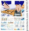 worker, calculation, chart 47087057
