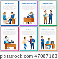Interview Candidate Talking to Director Posters 47087183