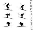 set group alpine skiing sport 47088238