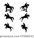 set group equestrian sport 47088242