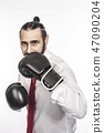 businessman with boxing gloves 47090204