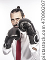 businessman with boxing gloves 47090207