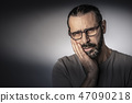toothache pain expression 47090218