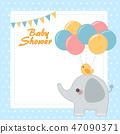 大象 問候 邀請卡 47090371