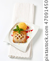Little apricot pie with ice cream 47091450