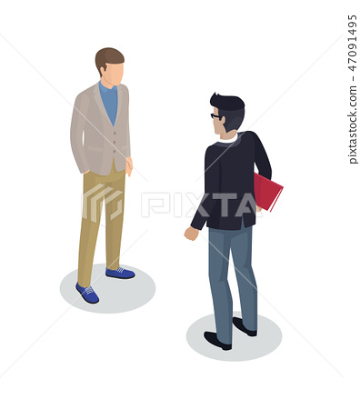 Businessman and Client Set Vector Illustration 47091495