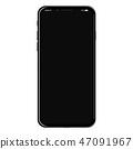 Realistic modern new smartphone design concept. Vector object mockup illustration 47091967