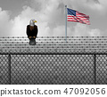 American Eagle On Security Border 47092056