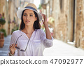 person hat street 47092977