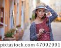 street tourist woman 47092991