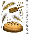 grain, bread, wheat 47094808